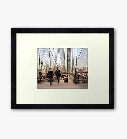 Brooklyn Bridge, New York, 1905 — Colorized Framed Print