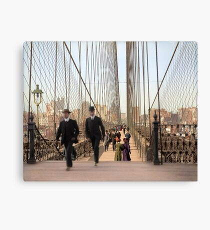 Brooklyn Bridge, New York, 1905 — Colorized Canvas Print