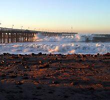 Ocean Wave Storm Pier by Henrik Lehnerer