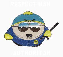 Respect Mah Authoritah - Light text  One Piece - Short Sleeve