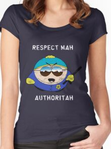 Respect Mah Authoritah - Light text  Women's Fitted Scoop T-Shirt