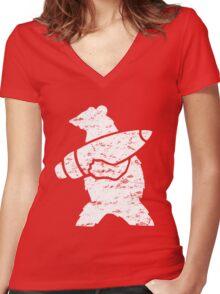 Wojtek the Bear  Women's Fitted V-Neck T-Shirt