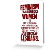 Feminism in Wherever Red Greeting Card