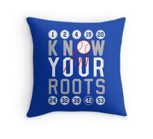"Dodgers ""Know Your Roots"" Throw Pillow"