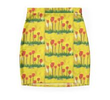 Poppy Flowers Mini Skirt