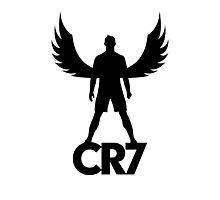 CR7 angel black Photographic Print