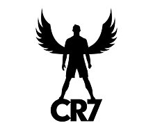 CR7 angel black Photographic Print