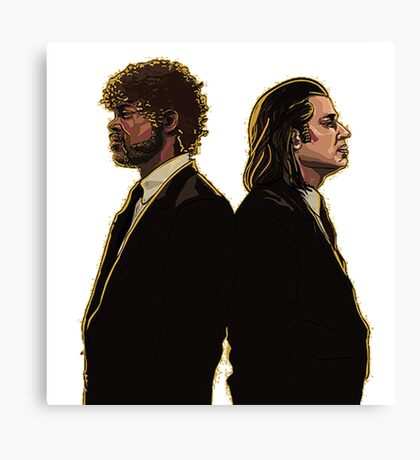vince and jules Canvas Print