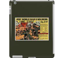 200 WW2 Soldiers Comic Book Ad iPad Case/Skin