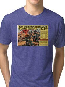 200 WW2 Soldiers Comic Book Ad Tri-blend T-Shirt