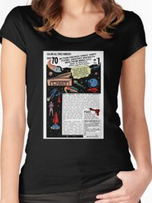 Space Rangers Comic Ad Women's Fitted Scoop T-Shirt