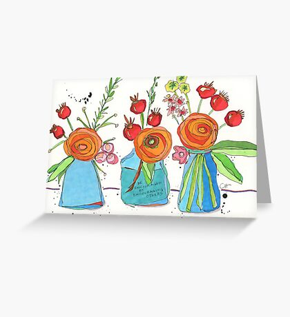 Encouraging Flowers Greeting Card