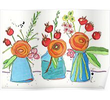 Encouraging Flowers Poster