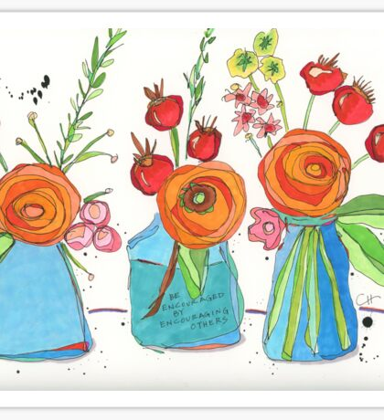 Encouraging Flowers Sticker