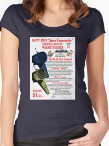 Space Commander Walkie Talkies Women's Fitted Scoop T-Shirt