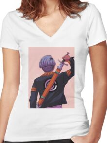 Future Trunks Women's Fitted V-Neck T-Shirt