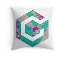 Vaporwave Gamecube Throw Pillow