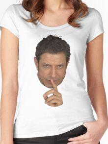 Jeff Goldblum Shush Face Women's Fitted Scoop T-Shirt
