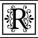 Letter R Monogram by imaginarystory
