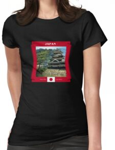 Japan - Here The Sun Rises Womens Fitted T-Shirt