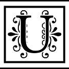 Letter U Monogram by imaginarystory