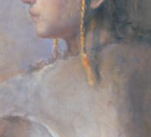 Helene in profile Sticker