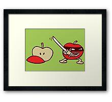 pomme ninja apple Framed Print