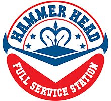 Hammer Head Garage - Full Service Station Photographic Print