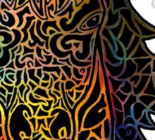 Colorful Intricate Horse Head Design Sticker