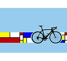 Bike Stripes Mondrian Photographic Print
