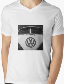 VW Split Screen camper / bus Mens V-Neck T-Shirt