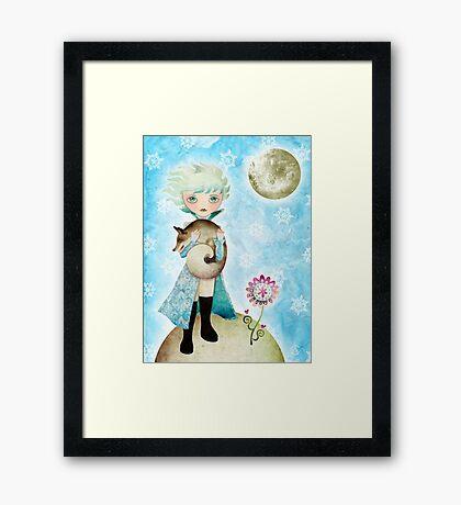 Wintry Little Prince T-Shirt Framed Print