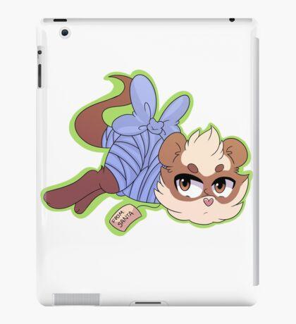 ferret xmas sticker one iPad Case/Skin