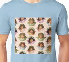Pastel Victorian Cherub Repeat in Sweet Peach Unisex T-Shirt