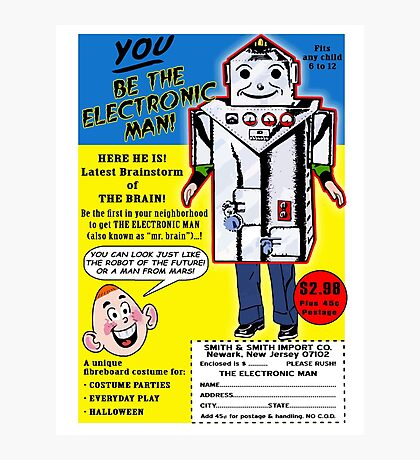 Electronic Man  Comic Book Ad Photographic Print