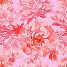 - Watercolor peony pattern - by Losenko  Mila