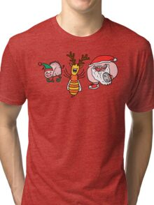 Willy Bum Bum - Christmas! Tri-blend T-Shirt