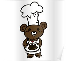 teddy bear cook Poster