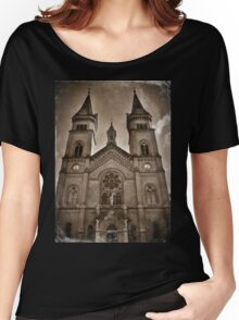 Cathedral Sepia Women's Relaxed Fit T-Shirt