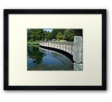 Bridge Reflection - Calendar Image   ^ Framed Print