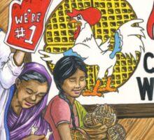 Mother Teresa, Roscoe's Chicken N Waffles, We're #1 Foam Finger Sticker