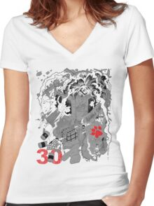 Naughty Dog 30th Anniversary - Chaos Women's Fitted V-Neck T-Shirt