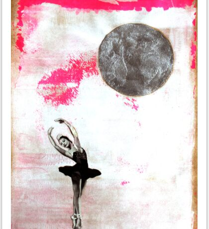 On Pointe by the Moon Sticker
