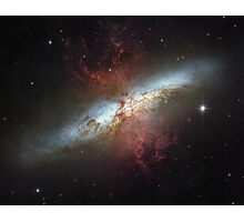 Starburst galaxy outer space hubble Photographic Print