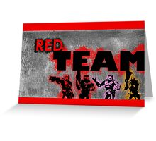 Red vs Blue: Red Team Print Greeting Card