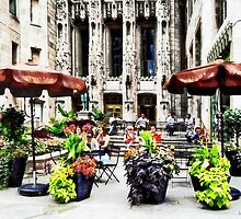 Chicago - Enjoying Lunch on the Magnificent Mile by Susan Savad
