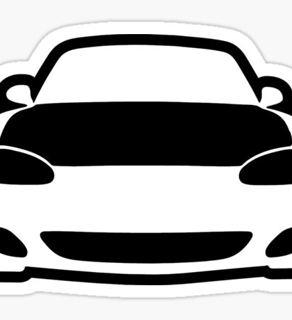 Mazda NB Miata / MX5 Shadow Outline Sticker + Case Sticker