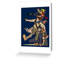 Naughty Dog - Drake, Joel, Jak Greeting Card