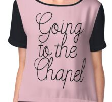 Going to the Chapel in Pink V1 Chiffon Top