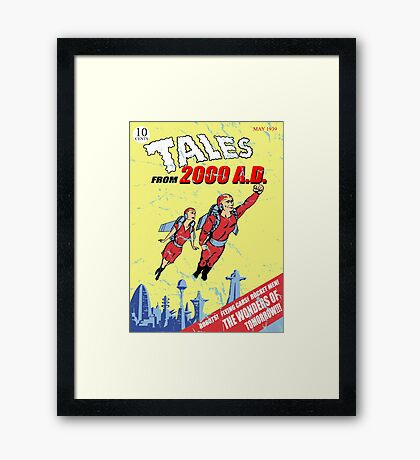 in the year 2000... Framed Print